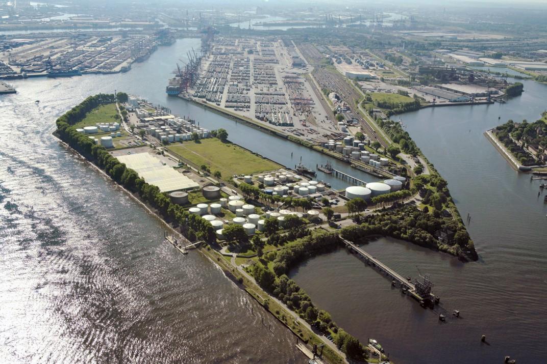 Das Areal der geplanten Westerweiterung des EUROGATE Container Terminal Hamburg (CTH) Foto: Hamburg Port Authority (HPA)